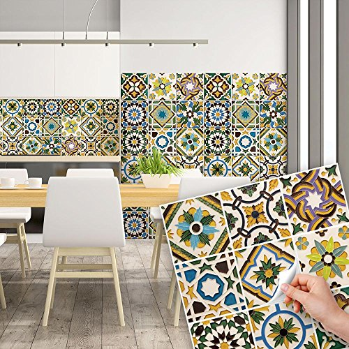 Awesome piastrelle colorate per cucina gallery home for Rivestimenti cucina adesivi